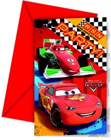 Disney Cars Inbjudningskort, 6 st