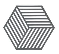 Zone Hexagon Grytunderlägg 14x16 cm Silikon Grå