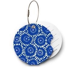 Addatag bagagetag - Batik blue