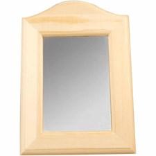 Spegel med Träram 19x27x1,5 cm Poppel 1 st