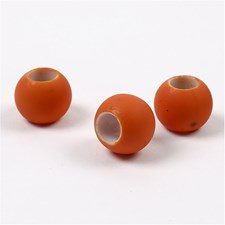 Link Beads, str. 8x10 mm, hullstr. 5 mm, 21 g, orange