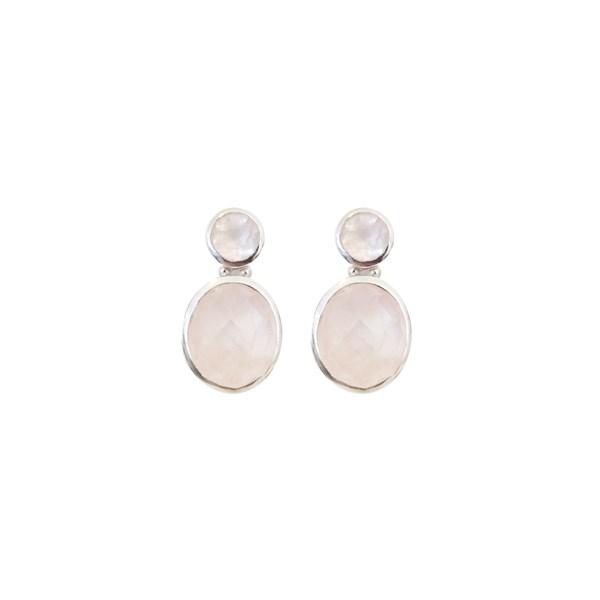 Øredobber Adorada Ear, Silvery Pink