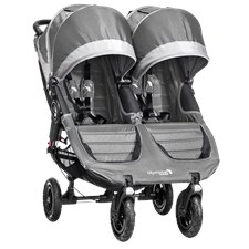 City Mini GT Dubbel, Stålgrå, Baby Jogger
