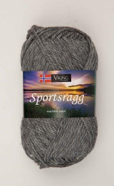Viking of Norway Sportsragg Garn Ullmix 50g Grå 530
