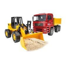 Truck Med Bulldozer