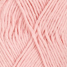 Drops, Cotton Light Uni Colour, Garn, Bomullmiks, 50 g, Lys rosa 05