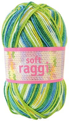 Soft Raggi 100g Lime/turkoosi printti (31207)