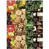 Decoupagepapir , ark 25x35 cm,  17 g, brun, grønn, gul, food, 8ass. ark