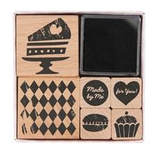 Stempelsett kake, 6 stempler