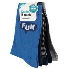 5-pack strumpor, Blå, Crossbow, strl 34/36