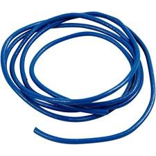 Lädersnöre 4 mm x 2 m Blå