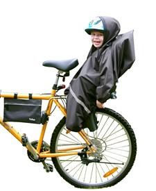 Regnskydd för cykelsits, Svart, Tullsa