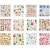 Stickers Bok, ark 15x16,5 cm, ca. 584 stk., , jul, 12ark