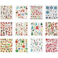 Sticker Book, ark 15x16,5 cm, ca. 584 stk., jul, 12ass. ark