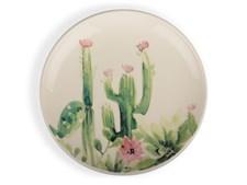 Asjett kaktus hvit/grønn/rosa
