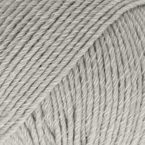 Drops, Cotton Merino Uni Colour, Garn, Ullmiks, 50 g, Lys grå 20