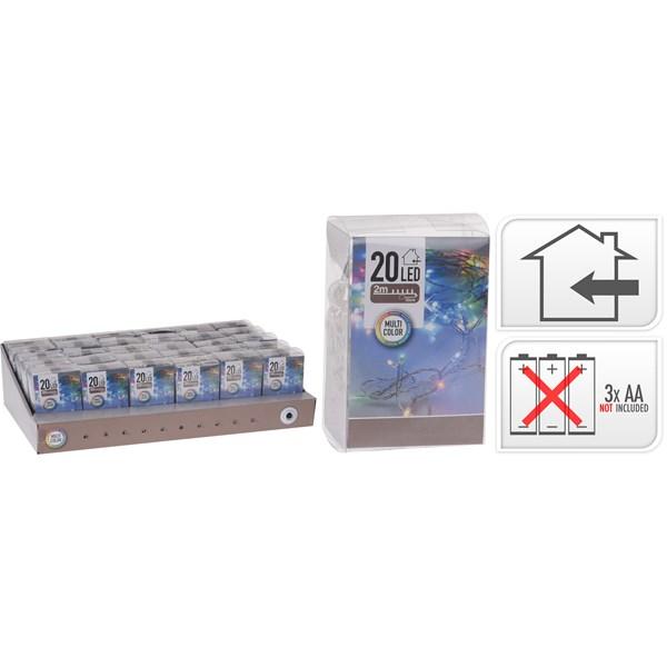 Ljusslinga MultiFärg  20 lampor  AA-batterier ingår ej