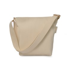Ceannis Walnut Collection Small Shoulder Bag Off White