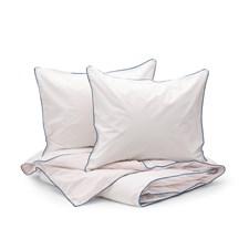 Sköna Hem Two fold Påslakanset i Tvättad Bomullspercale 240x220 cm Light pink/Pink