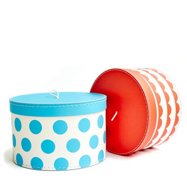 Förvaringsboxar 2-pack  röd-turkos  Ejvor - barnrumsförvaring