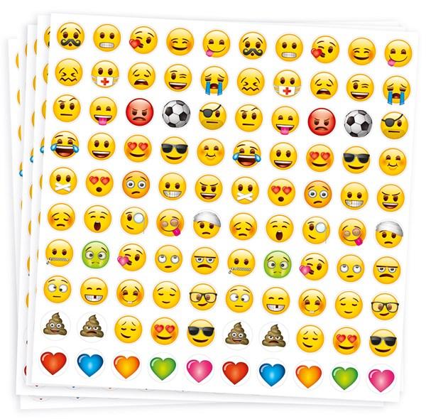 Seriøst Klistremerker, Emoji, 10 ark, 1000 stk., Playbox- klistremerker DR-57