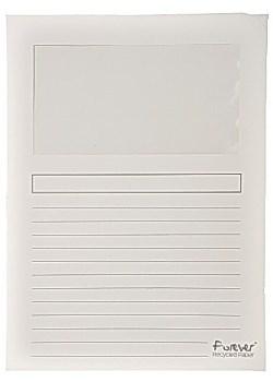 Aktmappe med vindu 120 g hvit (100)