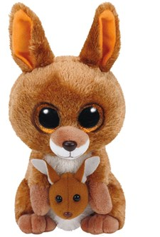 TY Kangaroo, Brun kenguru,15 cm