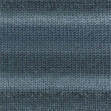 Drops, Big Delight Print, Garn, Ullgarn, 100 g, Jeansblå/teal 12