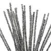 Askartelupunokset, hopea, Pit. 30 cm, paksuus 6 mm, kimalle, 24 kpl/ 1 pkk