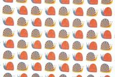 Bomullstyg Sniglar 50x160 cm Flerärgad
