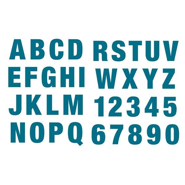 Silikonstämpel Bokstäver och Siffror Stor 15 5x24 5 cm  Paper Poetry