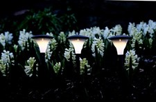 Solcellslampa Gångljus 3st Svart