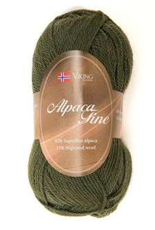 Viking of Norway Alpaca Fine 50 gr Mørk grønn 636