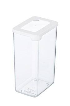 Oppbevaringsboks, 1,6 L, Plast, Hvit, GastroMax
