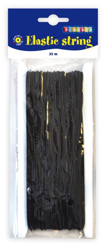 Elastisk tråd, svart, Playbox