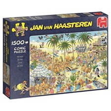 Jan van Haasteren, The oasis, Pussel 1500 bitar