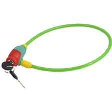 Cykellås kabel, grön 8 x 650 mm