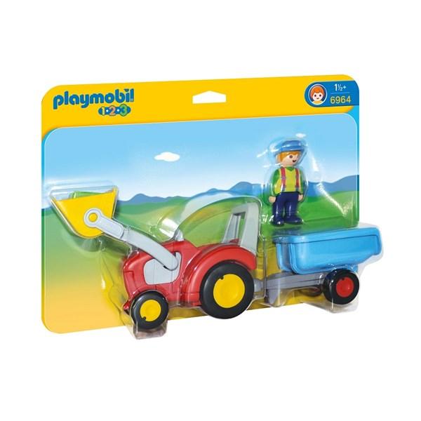 Bonde med traktor og tilhenger, Playmobil 1.2.3 (6964)