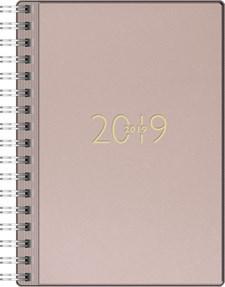 Veckokalender A6 Gammal Rosa Konstskinn FSC