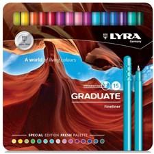 Lyra Graduate Fineliner Fresh 15-pack