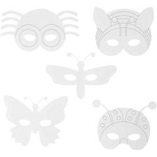 Hyönteisnaamiot, kork. 14-17 cm, lev. 19,5-23 cm, 16kpl, 230 g