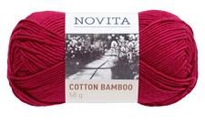Novita Cotton Bamboo Garn bomullsmix 50 g kirsebær 562