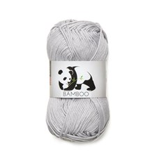 Viking of Norway Bamboo Garn Bomullsmix 50g Ljusgrå 613