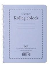 Kollegieblock Svanenmärkt A4 Linjerat 90g 70 Blad