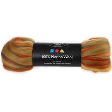Regnbuekjemmet ull, 50 g, orange
