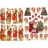 Bokmärken, Jultomte med julklappar, 16,5x23,5 cm, 2 ark/ 1 förp.
