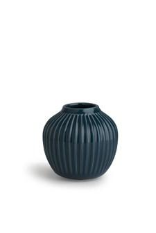 Vase, Hammershöi, H 12,5 cm, Petrol, Kähler