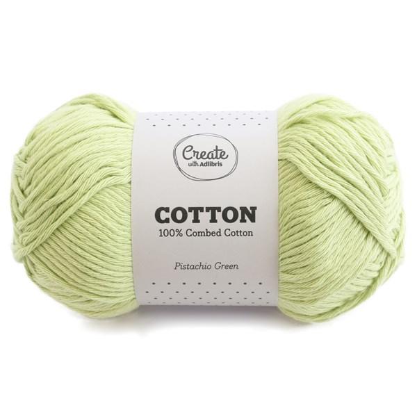 Adlibris Cotton 8/9 lanka 100g Pistachio Green A077