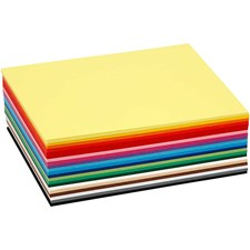 Värillinen kartonki, A6 105x148 mm, 180 g, 120 laj, värilajitelma