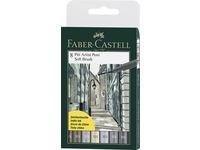 Soft Brush Pen Pitt Artist Faber-Castell Etui 8 st Gråtoner